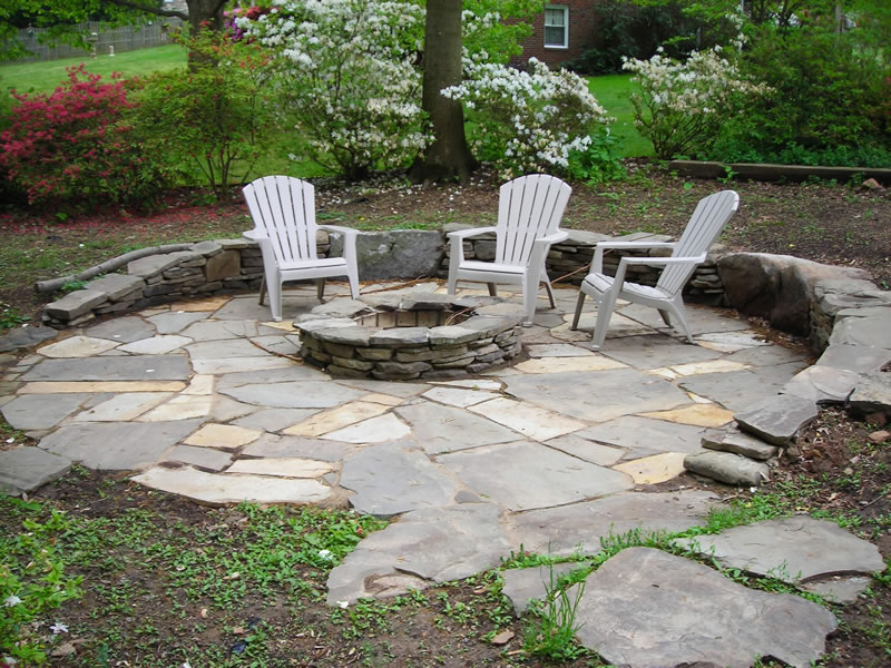 Stone Fire Pits Harford Baltimore County MD Ground